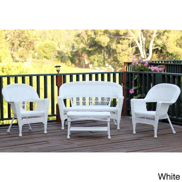 Wicker Patio 4-piece Conversation Set