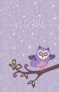 Holy Bible: New King James Version Purple Owl Glittery, Appliqued Cloth (Hardcover)