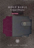 Holy Bible: King James Version, Gray & Plum, Fabric/Leathersoft, Compact, Ultraslim (Paperback)