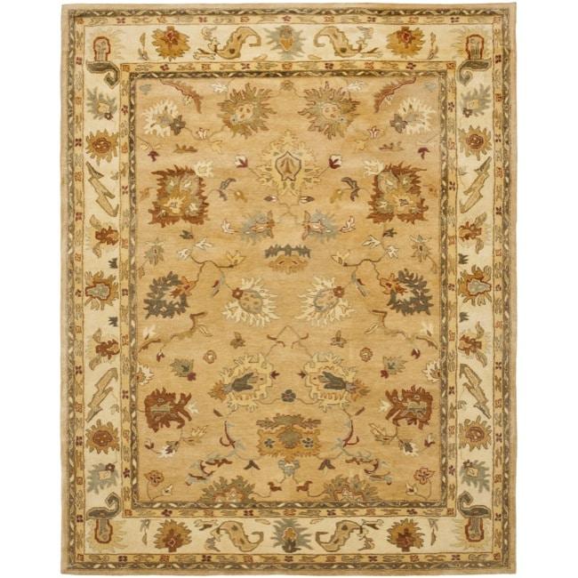 Safavieh Handmade Zeigler Taupe/ Ivory Hand-spun Wool Rug (9' x 12')