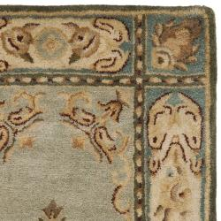 Safavieh Handmade Oasis Light Blue/ Ivory Hand-spun Wool Rug (2'3 x 8')