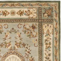 Safavieh Handmade Oasis Light Blue/ Ivory Hand-spun Wool Rug (5' x 8')