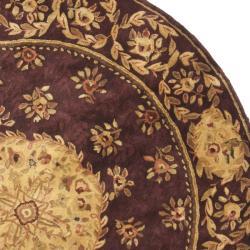 Safavieh Handmade Aubusson Roinville Red Wool Rug (3'6 Round)