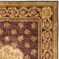 Safavieh Handmade Aubusson Roinville Red Wool Rug (9'6 x 13'6)