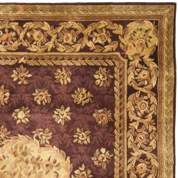 Handmade French Aubusson Roinville Red Premium Wool Rug (6' x 9')