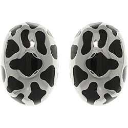 CGC Stainless Steel Animal Print Oval Stud Earrings