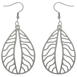 CGC Stainless Steel Autumn Leaf Long Dangle Earrings