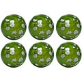 Red Vanilla 4-inch Decorative Silver Leaves Nature Spheres (Set of 6)