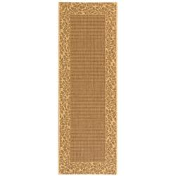 Poolside Brown/ Natural Indoor Outdoor Rug (2'4 x 9'11)