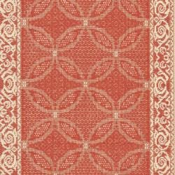 Courtyard Poolside Red/ Natural Indoor Outdoor Rug (2'4 x 6'7)