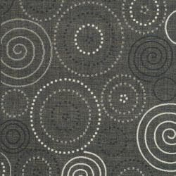 Poolside Black/ Sand Indoor Outdoor Rug (9' x 12')