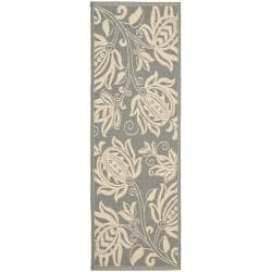 Safavieh Courtyard Poolside Grey/ Natural Indoor Outdoor Rug (2'4 x 6'7)