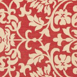 Safavieh Courtyard Poolside Red/ Natural Indoor Outdoor Rug (6'7 Square)