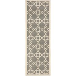 Poolside Grey/ Beige Indoor Outdoor Rug (2'4 x 9'11)