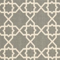 Poolside Grey/ Beige Indoor Outdoor Rug (4' x 5'7)