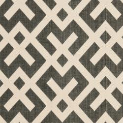 Safavieh Poolside Black/Bone Geometric Indoor/Outdoor Rug (9' x 12')