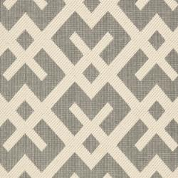 Poolside Grey/ Bone Indoor Outdoor Rug (2'4 x 9'11)