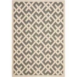 Safavieh Poolside Grey/ Bone Indoor Outdoor Rug (4' x 5'7)