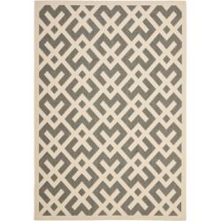 Poolside Grey/ Bone Indoor Outdoor Rug (5'3 x 7'7)