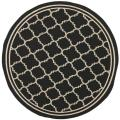 "Poolside Black/Beige Indoor/Outdoor Rug (6'7"" Round)"