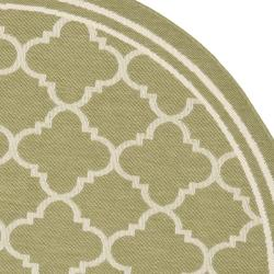 Safavieh Poolside Green/ Beige Indoor Outdoor Rug (5'3 Round)