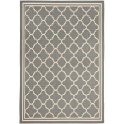 Poolside Anthracite/ Beige Indoor Outdoor Rug (6'7 x 9'6)