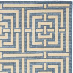 Poolside Blue/ Bone Indoor Outdoor Rug (6'7 x 9'6)