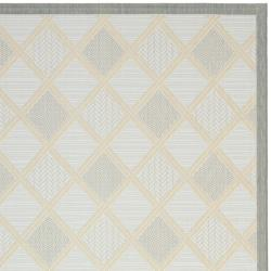 Poolside Light Grey/ Anthracite Indoor Outdoor Rug (4' x 5'7)
