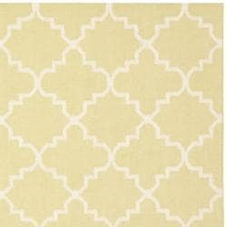 Safavieh Hand-woven Moroccan Dhurrie Light Green/ Ivory Wool Rug (8' Square)