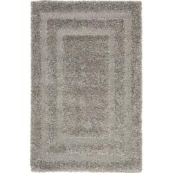 Ultimate Dark-gray Casual Polypropylene Shag Rug (3'3 x 5'3)