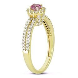 Miadora 14k Yellow Gold 3/4ctTDW Pink and White Diamond Ring (H-I, I1-I2)