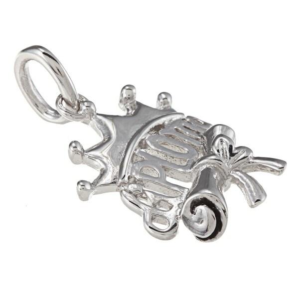 La Preciosa Sterling Silver 'Diploma' Crown Charm