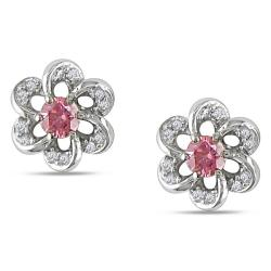 Miadora 14k Gold 1/3ct TDW Pink Diamond Stud Earrings (H-I, I1-I2)