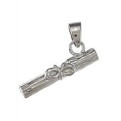 La Preciosa Sterling Silver Diploma with Bow Charm