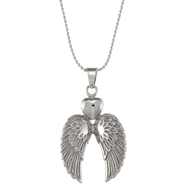 Inox Stainless Steel Double Winged Heart Necklace