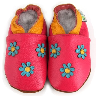 Augusta Products Baby Girl 3 Flowers Soft Sole Leather Shoes