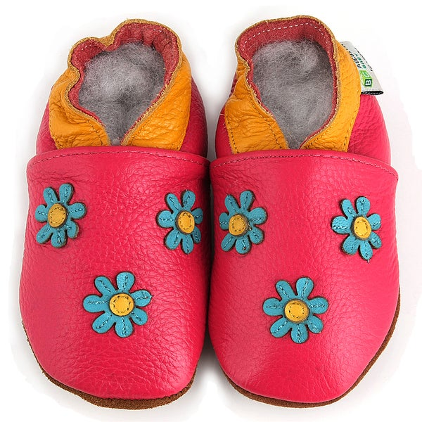 3 Flowers Soft Sole Leather Shoes