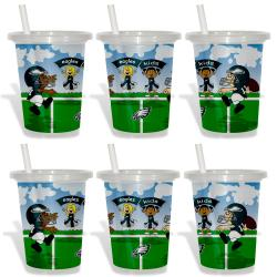 Philadelphia Eagles Sip and Go Cups (Pack of 6)
