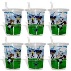 Dallas Cowboys Sip and Go Cups (Pack of 6)