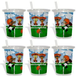Cleveland Browns Sip and Go Cups (Pack of 6)