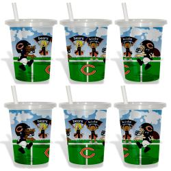 Chicago Bears Sip and Go Cups (Pack of 6)