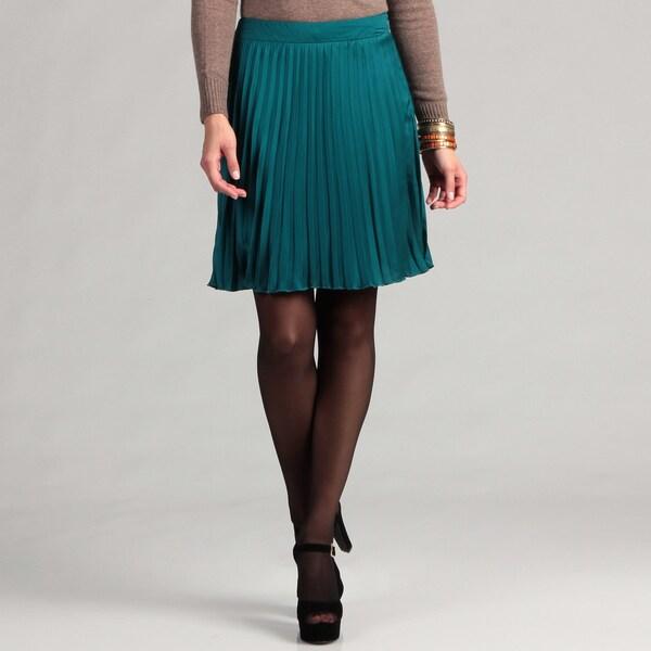 Kensie Women's Pleated Chiffon Skirt