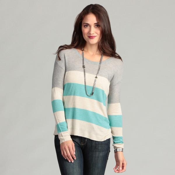 Kensie Women's Striped Long-sleeve Top
