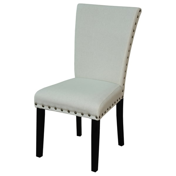 Adorno upholstered linen dining chairs set of 2 for Upholstered linen dining chairs