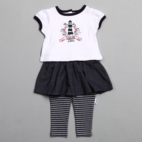 Vitamins Baby Infant Girl's Nautical 2-piece Skeggings Set