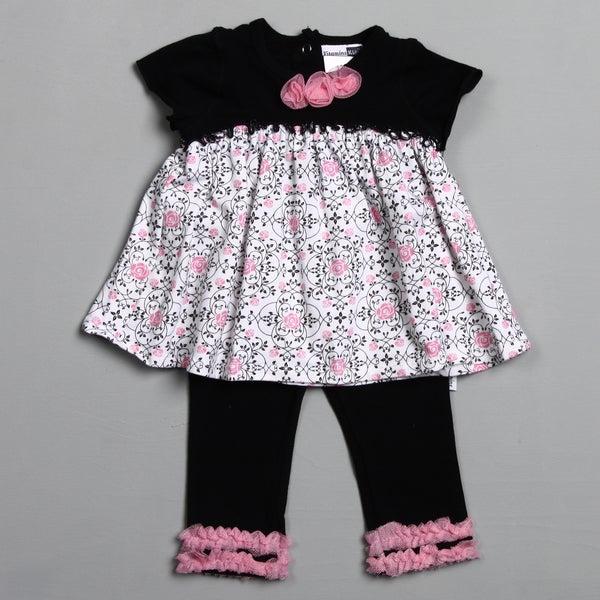 Vitamins Baby Infant Girl's Spiral Rose 2-piece Pant Set