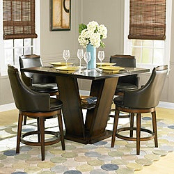 TRIBECCA HOME Elche 5-piece Walnut Dining Table Set