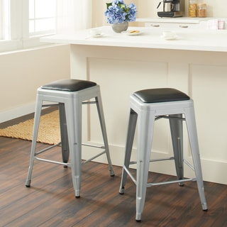 Tabouret 24-inch Padded Metal Counter Stool (set of 2)
