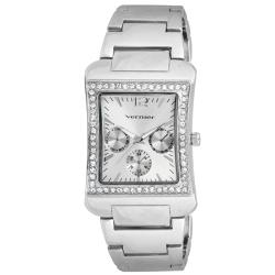 Vernier Women's V11059 Series Sparkle Tank Chrono Look Watch