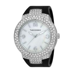 Vernier Women's V11073SSB Mother of Pearl Sparkle Bezel Watch
